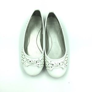 Sperry Top Sider Bethany White Ballet Flats